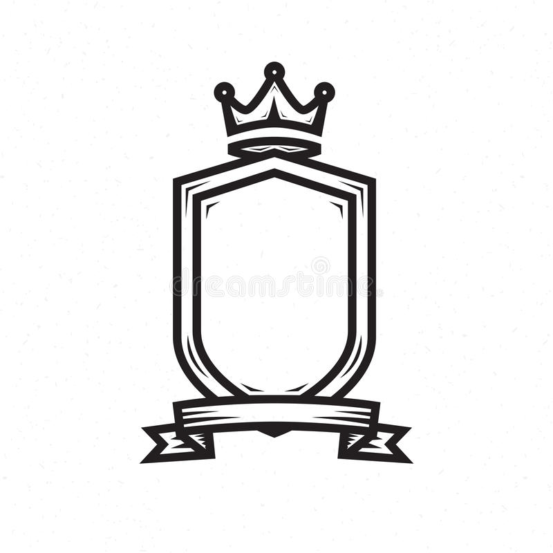 Shield Template For The Logo Stock Vector - Illustration of icon ...