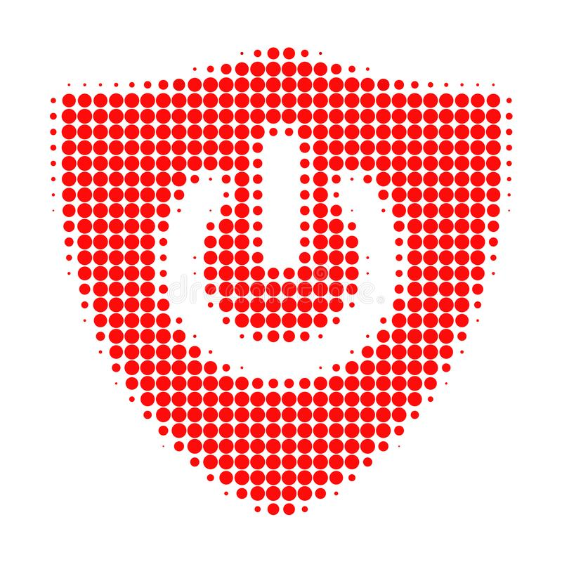 Shield Turn Off Halftone Dotted Icon vector illustration