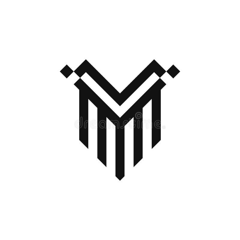 Shield V logo vector design. For your company or brand stock illustration