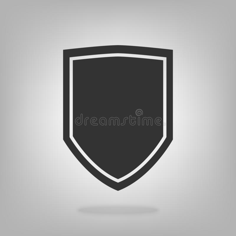 Shield vector icon security protection symbol for graphic design, logo, web site, social media, mobile app, ui illustration.  vector illustration