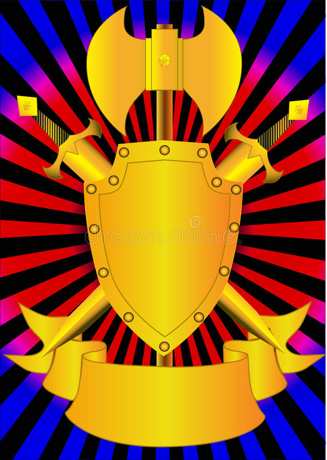 Download Shield and weapon stock vector. Image of label, nobility - 16560363