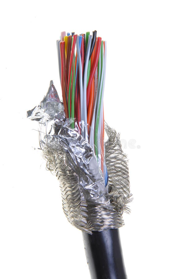 Shielded cable isolated stock photos