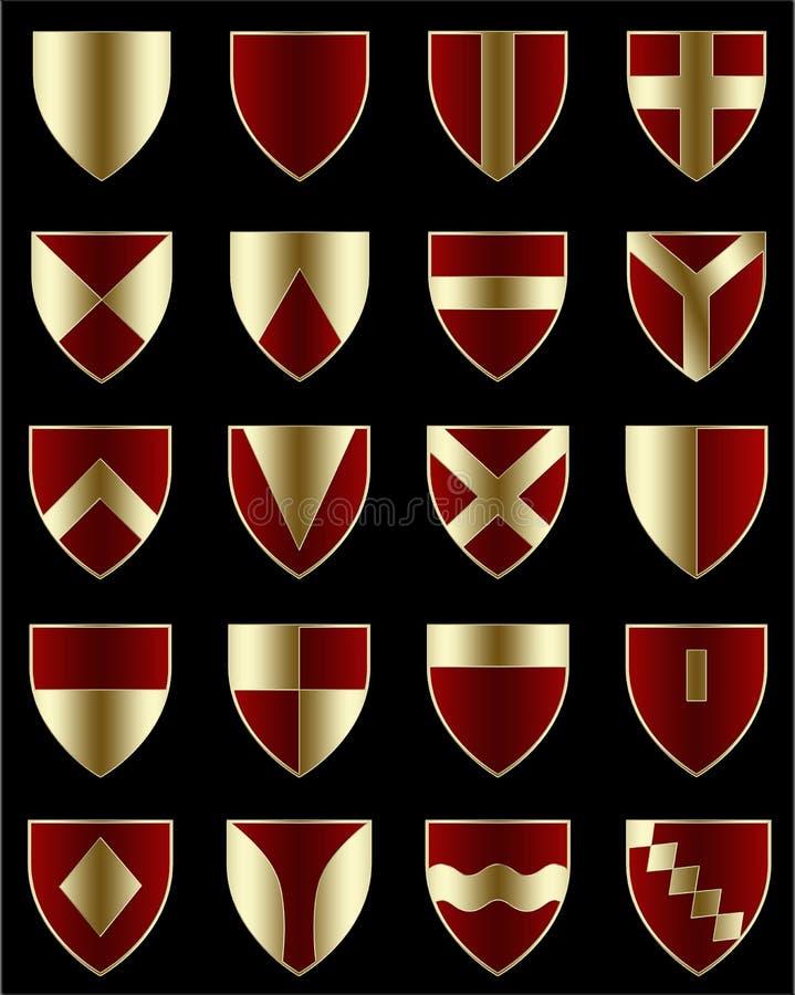 Download Shields stock illustration. Image of design, heraldic - 6839026
