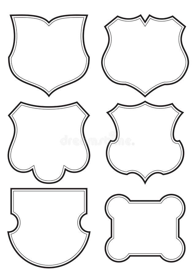 Shields set (vector) stock photo