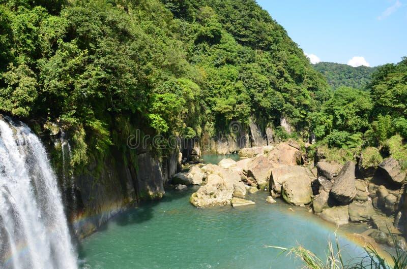 ShiFen vattenfall Taiwan royaltyfria bilder