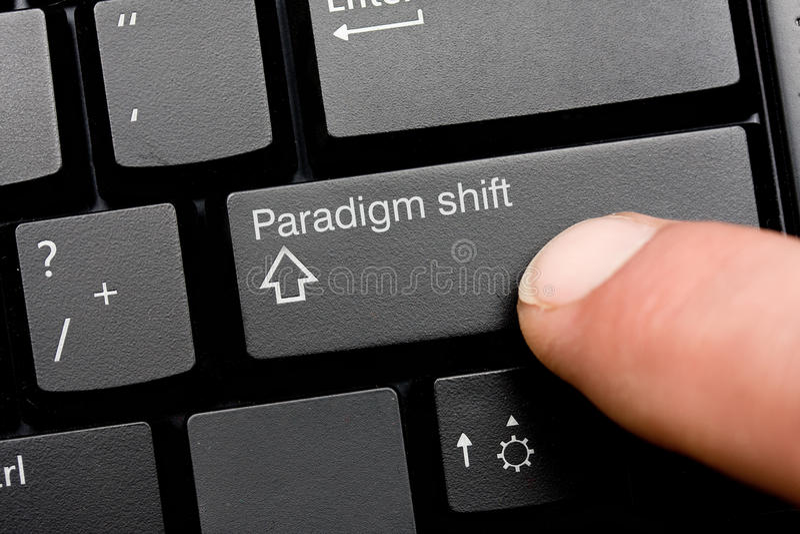 SHIFT do paradigma imagem de stock