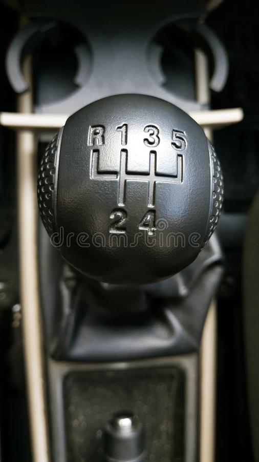 Shift Manual Transmission Car Gear Lever.  royalty free stock image