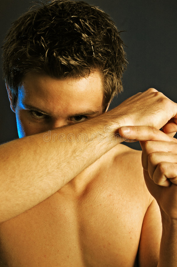 Shifty male stock photography