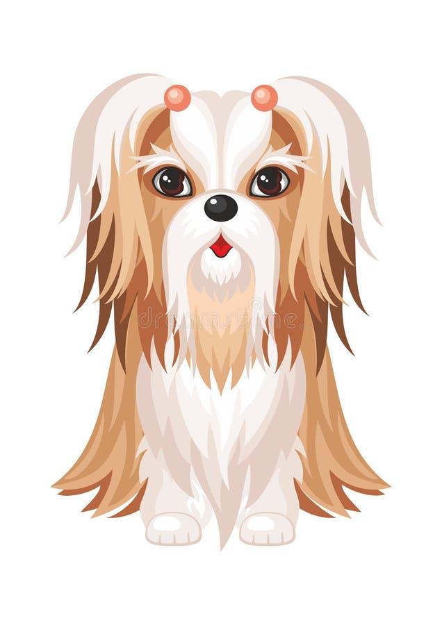 Shih Tzu Hund vektor abbildung