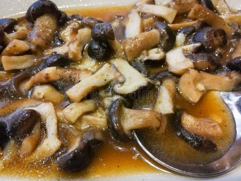 Shiitake pieczarka zdjęcie stock