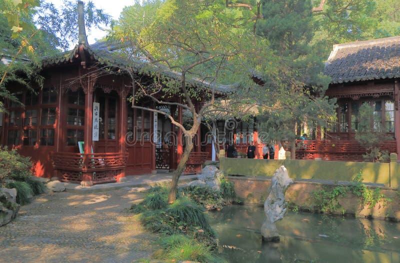 Shijiao-Pavillon Westsee Hangzhou China stockbild