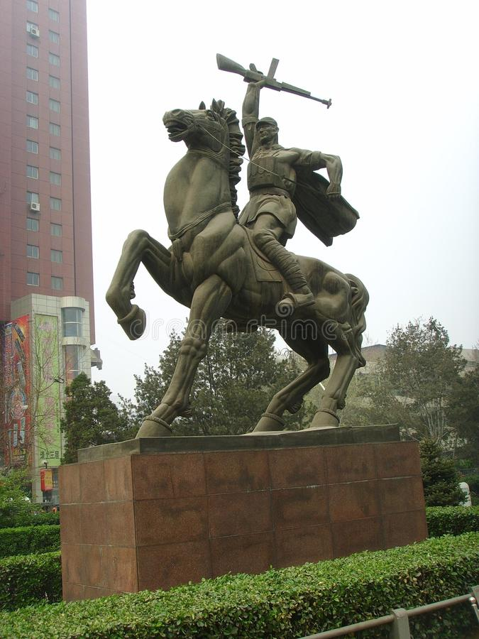 Shijiazhuang, Befreiungs-Monument stockbilder