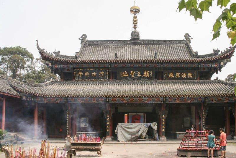 Shijingstempel in chengdu, China stock foto's