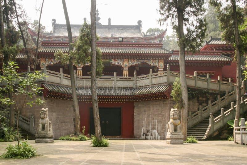 Shijingstempel in chengdu, China royalty-vrije stock afbeeldingen
