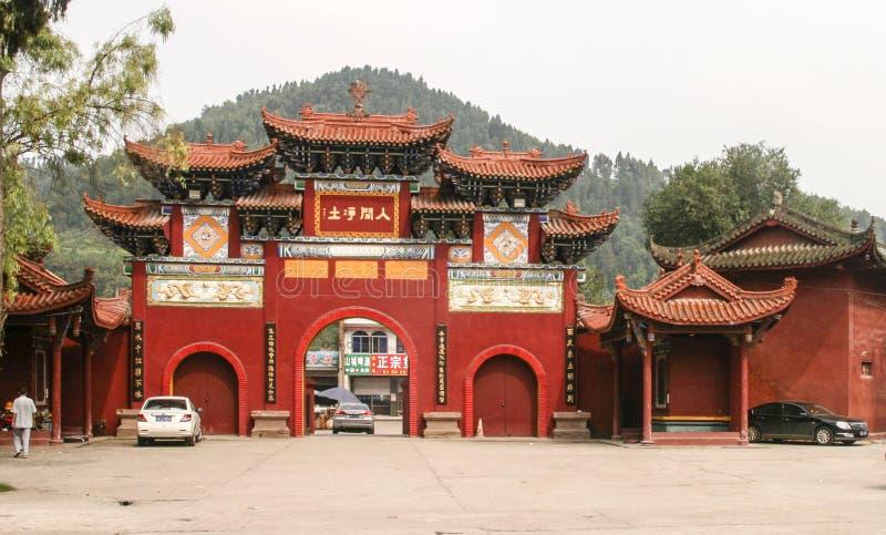 Shijingstempel in chengdu, China royalty-vrije stock fotografie
