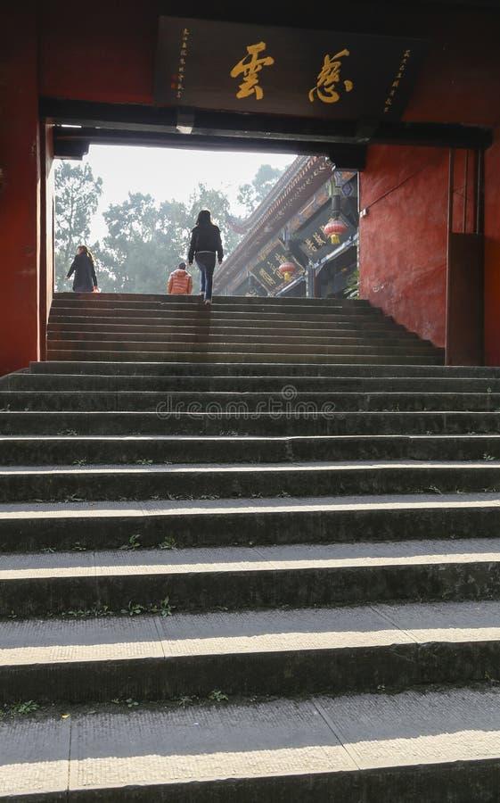Shijingstempel in chengdu, China stock fotografie