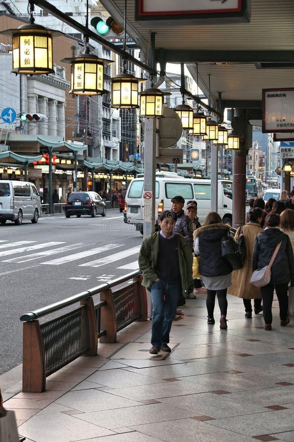Shijo Dori,京都 库存照片