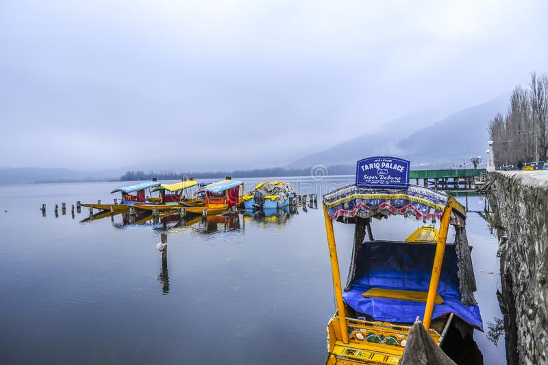 Shikara is one of the interesting activity that tourist can do in Kashmir. India royalty free stock photos