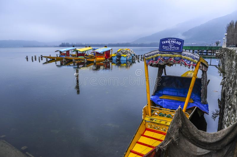 Shikara is one of the interesting activity that tourist can do in Kashmir. India royalty free stock images