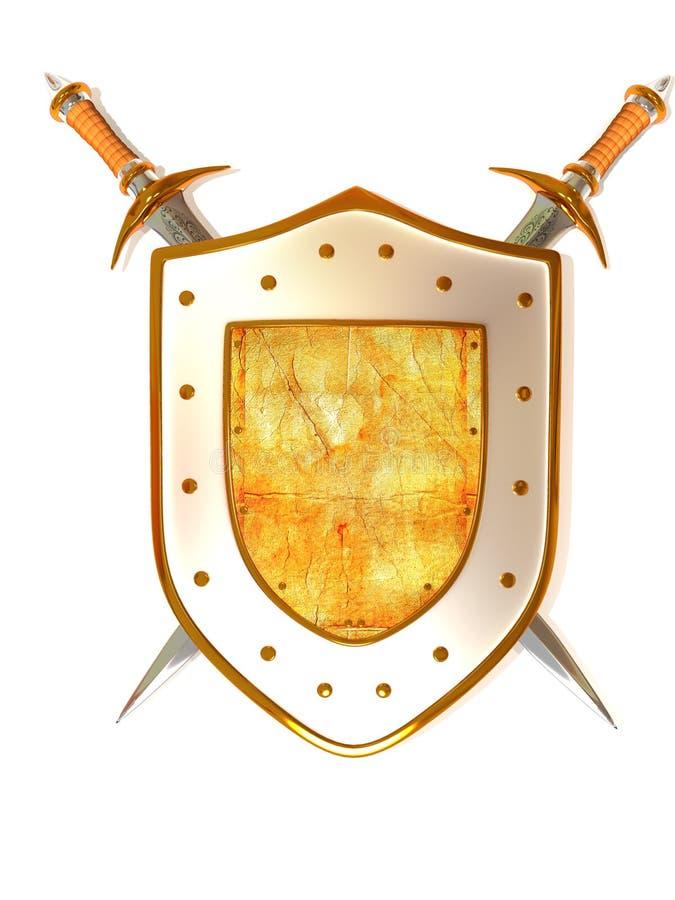 Shild avec l'épée. Garantie illustration libre de droits