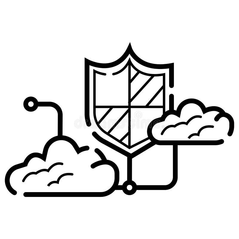 Shiled  icon stock illustration