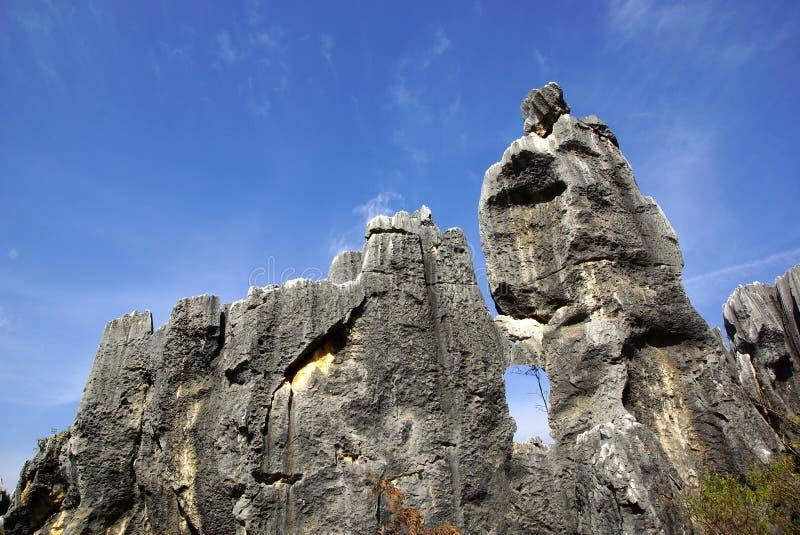 Shilin kamienia las w Kunming, Yunnan, Chiny zdjęcia stock