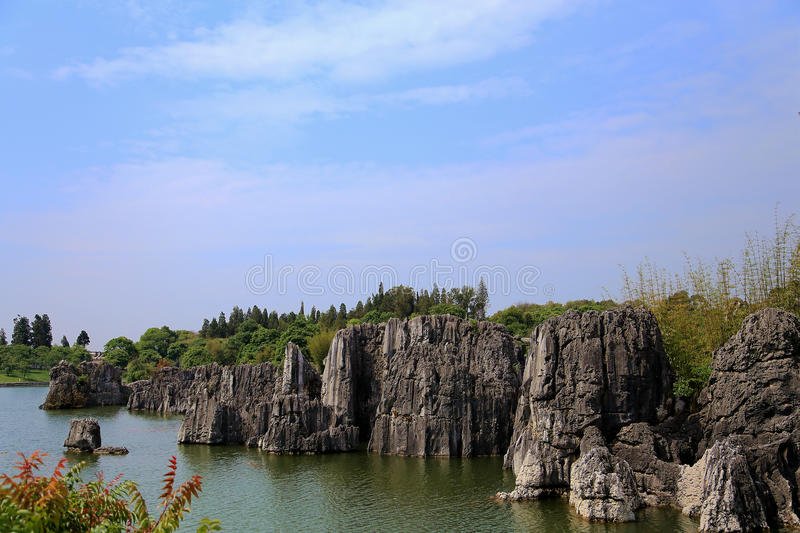 Shilin stone forest in kunming yunnan royalty free stock photography