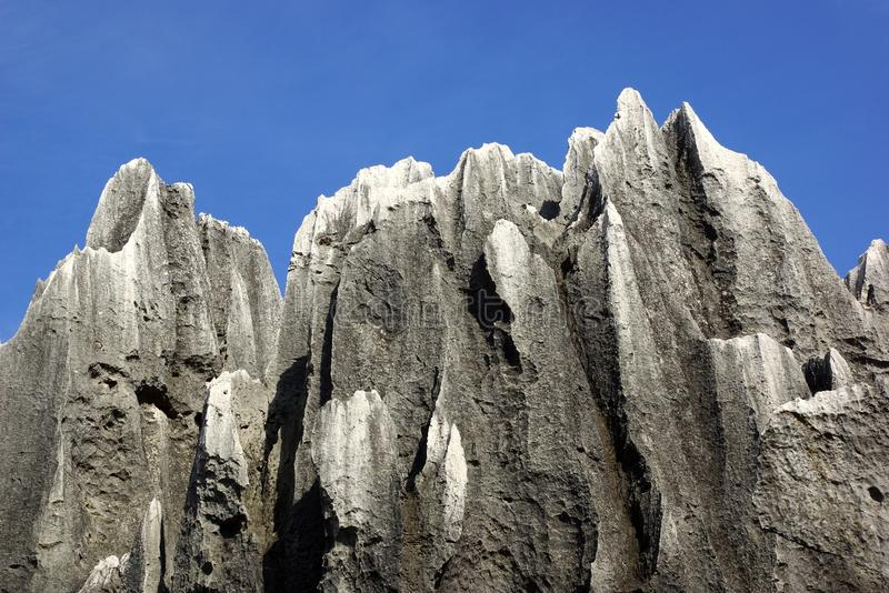 Shilin Stone Forest in Kunming, Yunnan, China stock photo
