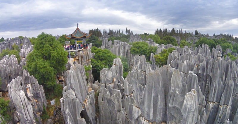 Shilin Yunnan porcelana obrazy royalty free
