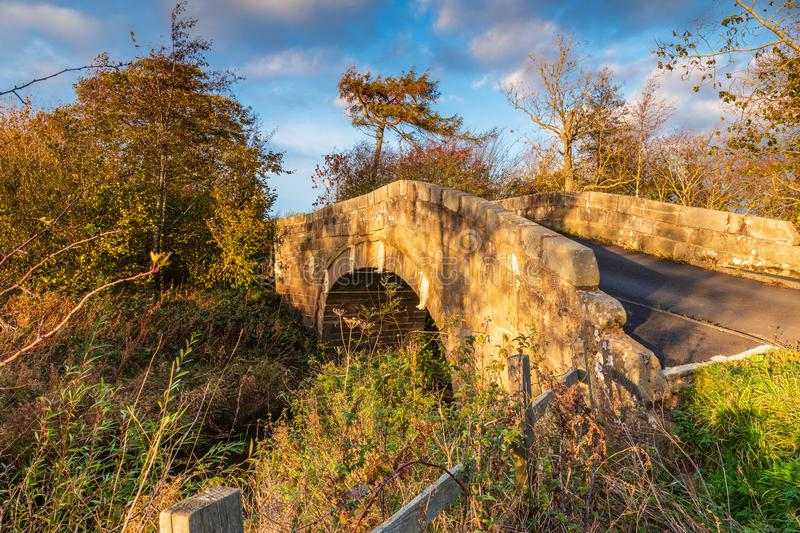 Shilvington Bridge over River Blyth stock photography