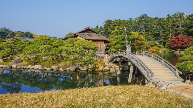 Shima-Jaya Teahouse przy En ogródem w Okayama zdjęcie stock