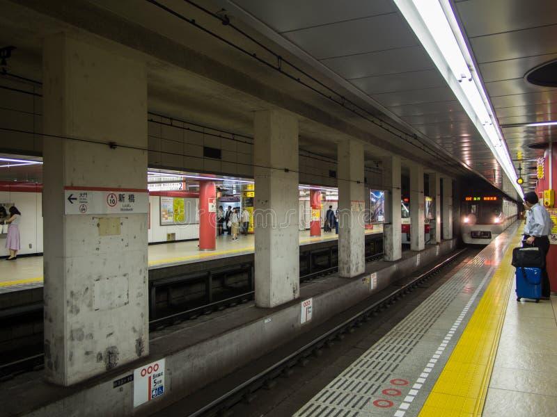 Shimbashi stacja metru, Tokio, Japonia obrazy royalty free