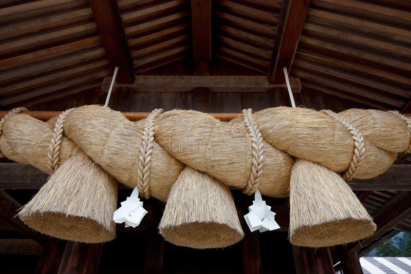 Shimenawa, cuerda sintoísta japonesa foto de archivo libre de regalías