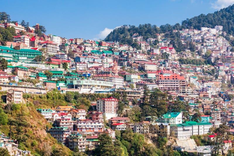 Shimla i Indien fotografering för bildbyråer