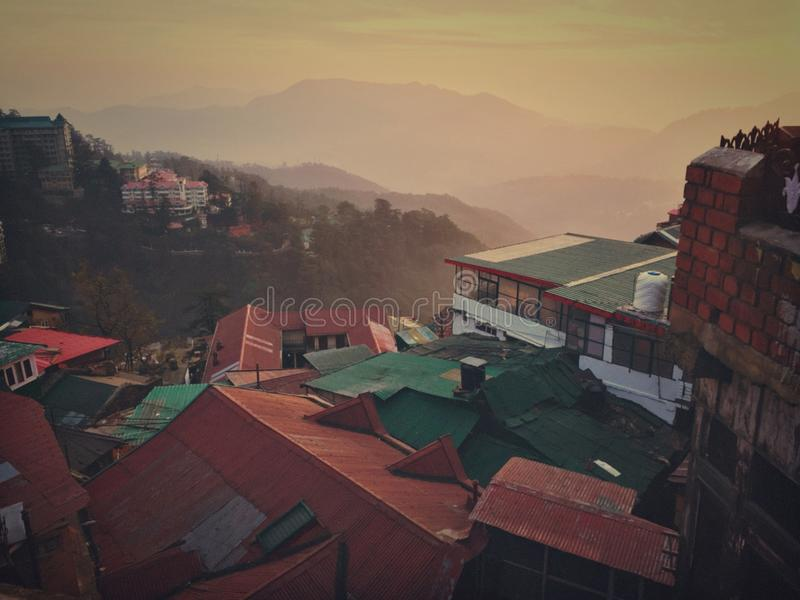 Shimla & x28; INDIA& x29; arkivbild