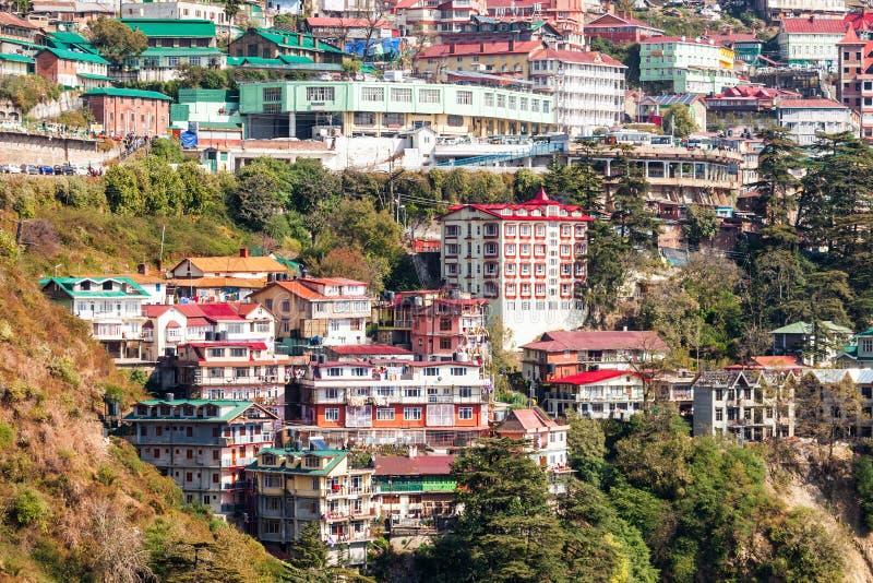 Shimla in India stock afbeeldingen