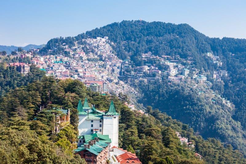 Shimla in India stock afbeelding