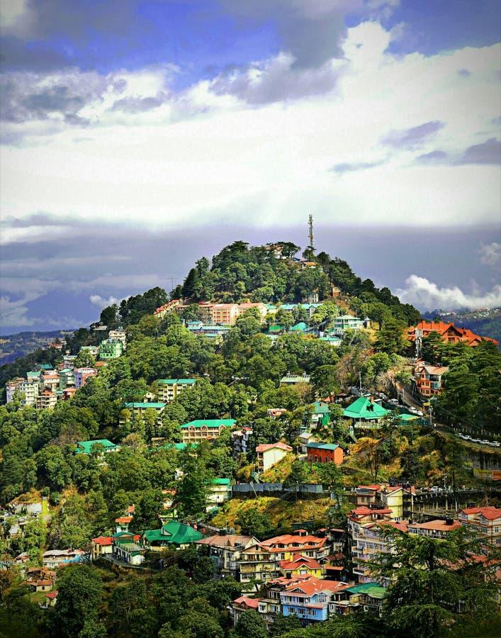 Shimla: Regina delle colline fotografia stock