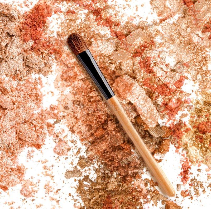 Shimmer blänker bakgrund för ögonskugga kosmetiskt smink arkivbilder