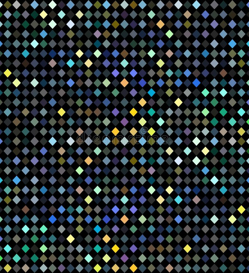 Shimmer geometrical pattern. Holiday disco party lights hologram background. Blue yellow green iridescent mosaic abstraction. vector illustration
