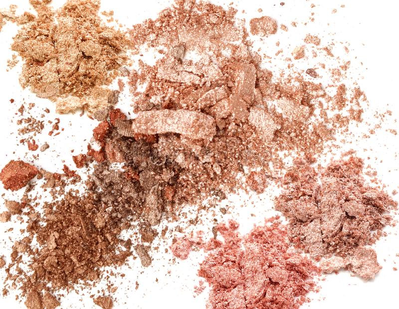 Shimmer glitter eye shadow background. Cosmetic make up.  stock photography