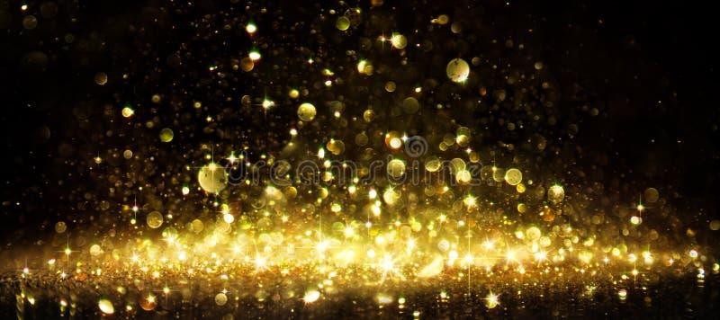 Shimmer Of Golden Glitter stock image