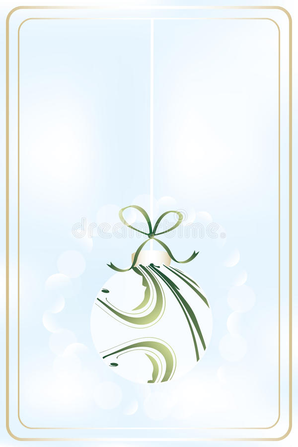 Shimmering Christmas ball. Illustration without text - available as jpg and eps-file royalty free illustration