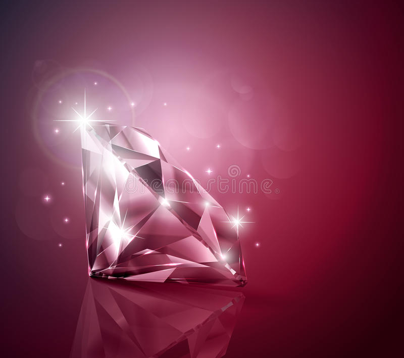 Ruby. Shimmering ruby with sparkles background stock illustration