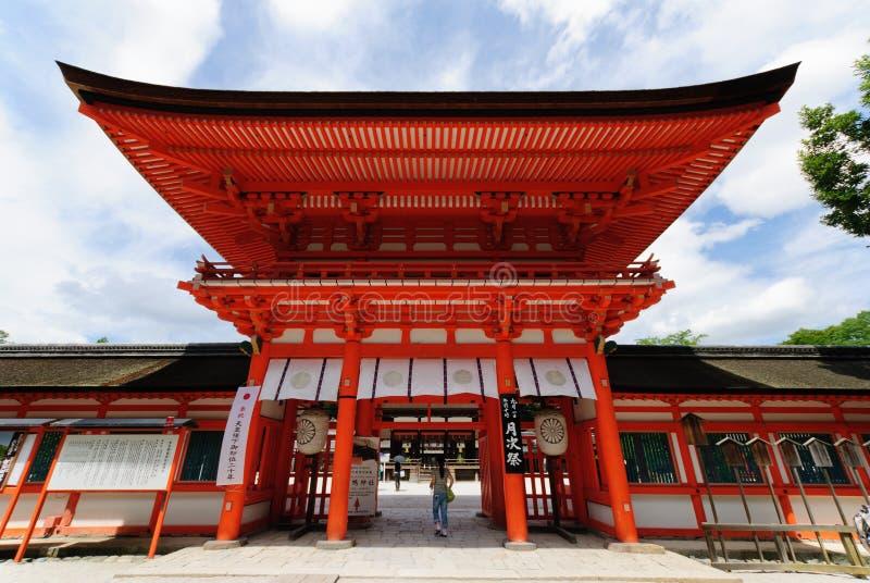 Shimogamo寺庙在京都,日本 免版税库存照片