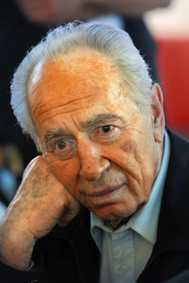 Shimon Peres - 9ème président de l'Israël image stock
