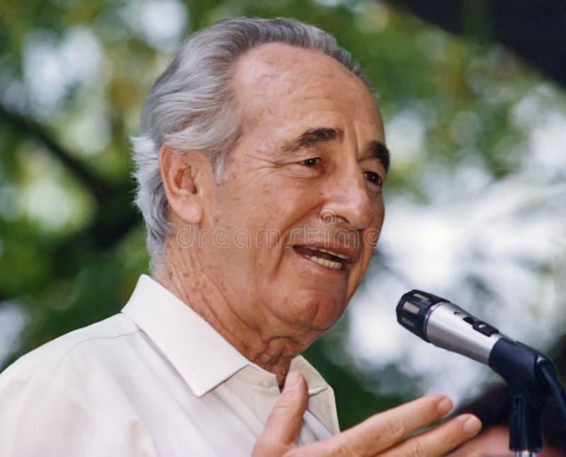Shimon Peres fotos de archivo libres de regalías
