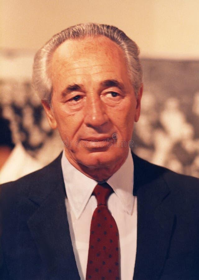 Shimon Peres image libre de droits