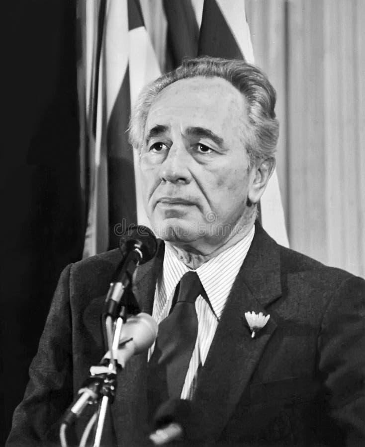 Shimon Peres images libres de droits