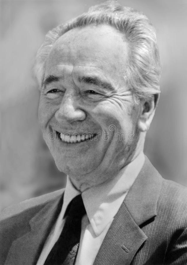 Shimon Peres photo libre de droits
